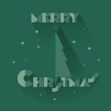 Рождественская елка и приветствия Стоковое фото RF