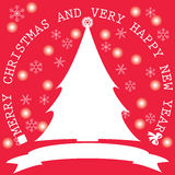 Рождественская елка и снежинка Бесплатная Иллюстрация