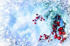 Рождественская елка и украшения стоковые изображения
