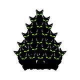 Рождественская елка котов Спрус любимчика ель от кота Новый Ye иллюстрация штока