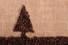 Рождественская елка кофейного зерна Стоковое Изображение