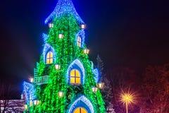 Рождественская елка на ноче Стоковая Фотография RF