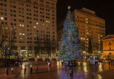 Рождественская елка - 14-ое декабря 2014 Главная рождественская елка в капитолии штата Вашингтона Стоковые Изображения RF