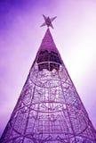 Рождественская елка осветила вверх, Севилья, Андалусия, Испания стоковое фото rf