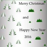 Рождественская елка открытки Стоковая Фотография RF