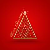 Рождественская елка предпосылки рождества красная бесплатная иллюстрация