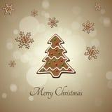 Рождественская елка пряника Стоковое Изображение RF