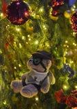 Рождественская елка плюшевого медвежонка стоковое изображение rf