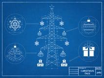 Рождественская елка - светокопия стоковая фотография rf