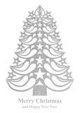 Рождественская елка сделанная из бумаги травы - белизны Стоковое фото RF