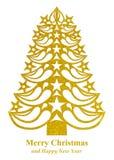 Рождественская елка сделанная из бумаги травы - желтого цвета Стоковые Фотографии RF