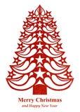 Рождественская елка сделанная из бумаги травы - красного цвета Стоковое фото RF