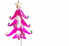 Рождественская елка сделанная из стекла, изолированный Стоковые Фотографии RF