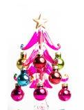 Рождественская елка сделанная из стекла, изолированный Стоковая Фотография RF