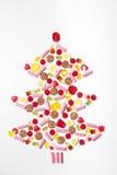 Рождественская елка сделанная от lollies и конфеты Стоковая Фотография