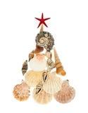 Рождественская елка сделанная seashells Стоковые Изображения