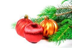 Рождественская елка с игрушками Стоковая Фотография