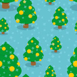 Рождественская елка с картиной шариков безшовной Стоковое Изображение