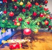 Рождественская елка с настоящими моментами Стоковое Изображение RF