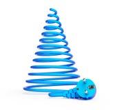 Рождественская елка с электрическими кабелями Стоковые Изображения