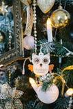 Рождественская елка украшенная с сычом игрушки Стоковая Фотография RF