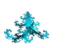 Рождественская елка фрактали на белизне иллюстрация вектора