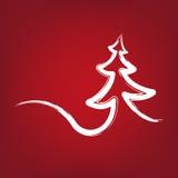 Рождественская елка штрихует вектор нарисованный символом Стоковое Изображение