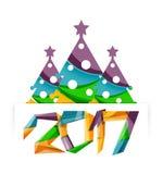 Рождественская елка, элементы знамени Нового Года бесплатная иллюстрация