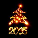 Рождественская елка 2015 Стоковое Изображение RF