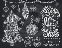 Рождественская елка, bals Литерность Нового Года, оформление Стоковые Фото