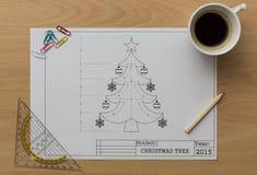 Рождественская елка Bluerpint Стоковая Фотография