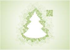 Рождественская елка QR Стоковое Фото