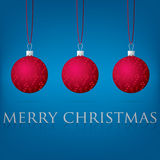 Рождественская открытка безделушки Стоковая Фотография RF