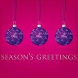 Рождественская открытка безделушки Стоковое Изображение