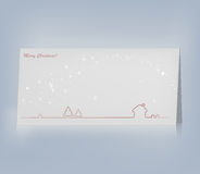 Рождественская открытка вектора. Стоковые Изображения