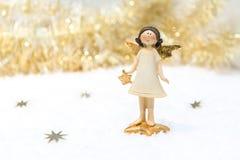 Рождественская открытка в цвете золота Стоковые Изображения