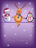 Рождественская открытка детей Стоковое фото RF
