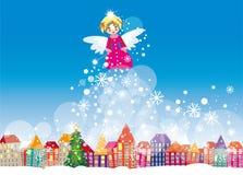 Рождественская открытка зимы бесплатная иллюстрация