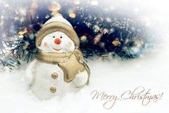 Рождественская открытка и с Рождеством Христовым текст Стоковые Фото