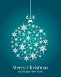 Рождественская открытка. Иллюстрация вектора. Стоковые Изображения