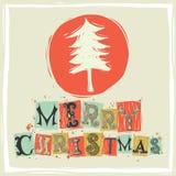 Рождественская открытка приветствию Стоковая Фотография