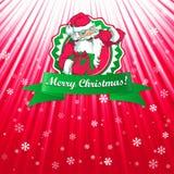 Рождественская открытка Санта Клауса иллюстрация штока