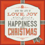 Рождественская открытка сбора винограда Стоковое фото RF
