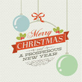 Рождественская открытка сбора винограда Стоковые Фото