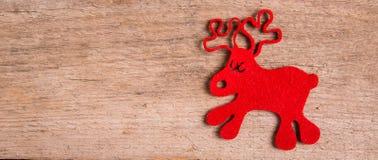 Рождественская открытка северного оленя Рудольфа Стоковое Изображение RF
