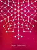 Рождественская открытка с геометрической снежинкой Новый Год Стоковая Фотография RF