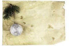 Рождественская открытка с игрушкой космоса и рождественской елки иллюстрация штока