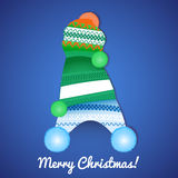 Рождественская открытка с крышками Стоковое Изображение RF