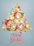 Рождественская открытка с местом для текста 10 eps Стоковые Изображения RF