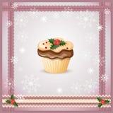 Рождественская открытка с пирожным Стоковое Изображение RF